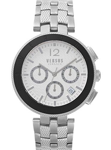 Versus by Versace Homme Analogique Quartz Montre avec Bracelet en Acier Inoxydable VSP762418