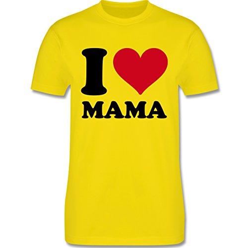 I love - I Love Mama - Herren Premium T-Shirt Lemon Gelb