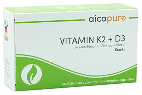 VITAMIN K2 & D3 • Menaquinon MK7 & Vitamin D3 Cholecaliferol • vegan • Kapseln • Made in Germany (60 Kapseln)