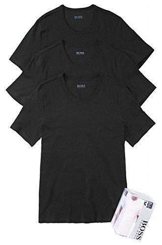 BOSS T-Shirt Herren Shirt SS RN 3P BM 50236738 im 3er-Pack mit Round-Neck, Farbe:Schwarz;Größe:XL