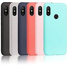 Wanxideng 6 x Funda para Xiaomi Mi A2 Lite, Carcasa en Silicona - [Negro