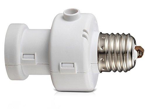 Maclean MCE21W Energy E27 Lampenfassung Adapter mit Dämmerung Sensor, 100W weiß (Edison-erweiterung)