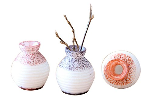 Milopon Micro Landschaft Deko Miniatur Mini Vase aus Harz für Puppenhaus Puppenhausmöbel Gartenmöbel Deko Garten Zufällige Farbe