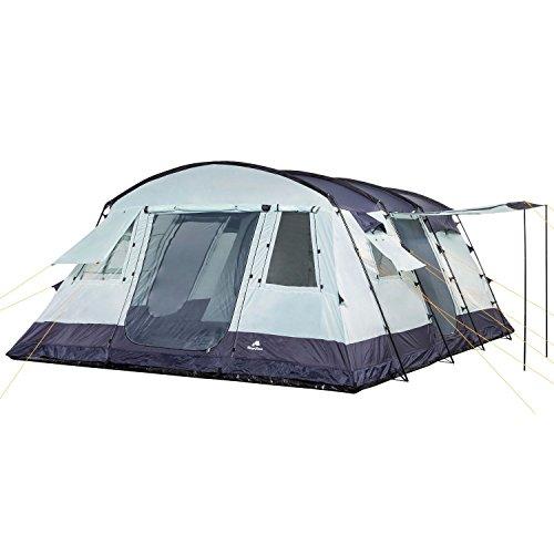 CampFeuer - 6 Personen Familienzelt, riesiger Vorraum, 5000 mm Wassersäule, Campingzelt, (+ 6 weitere Personen im Vorraum möglich) - 2