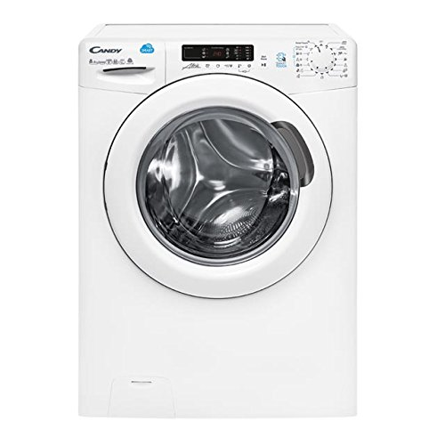 Candy - CSW 485D-S - Lavasecadora Carga Frontal - NFC - IDEAL LANA - KGS + 5KGS - 1400RPM - Display Digital - Clase AAA - Color Blanco