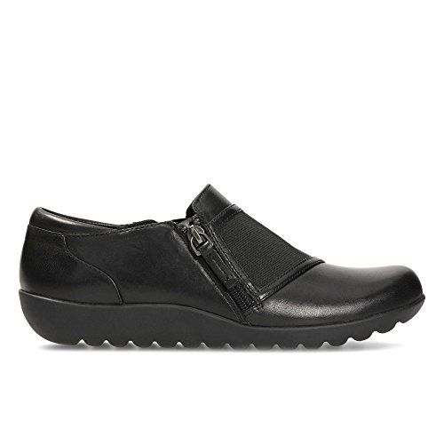 Clarks Medora Gale Leather Shoes In Black Standard Fit Size 5