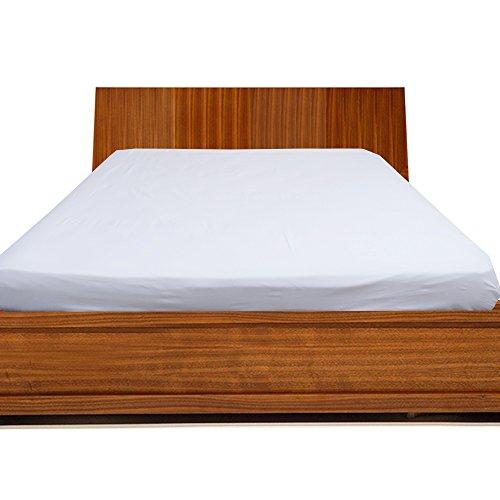 300tc-100-cotone-egiziano-solido-elegante-finitura-1lenzuolo-pocket-size-18inches-cotone-white-solid