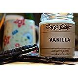 Cozy Glow Vanille Soja Kerze Jar - 35 + Stunden Burning Time