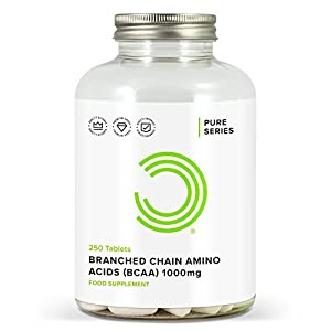 41lMZFVaA0L. SS300  - BULK POWDERS Pure Branched Chain Amino Acid (BCAA) Tablets, 1000 mg, Pack of 250