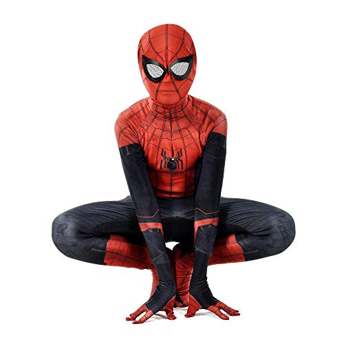 YXIAOL Spiderman Anime Cosplay Kostüm, Held Expedition Cosplay Kostüm, Halloween Karneval Party Kostüm, Kinder/Erwachsene,Child-XL (Schwarzes Spiderman Kostüm Hunde)