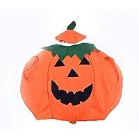 CDKJ: 1 Disfraz de Calabaza con Capucha para Halloween, Naranja, para niños