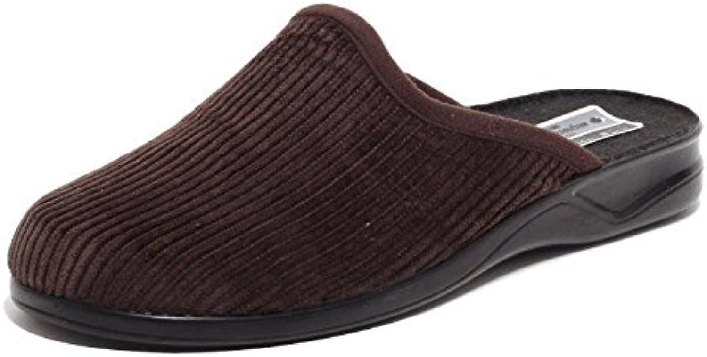 Herren Cord Hausschuhe Wörishofer Slipper Schuhe Pantoletten Pantoffel Komfortschuhe BRAUN Gr. 41  45