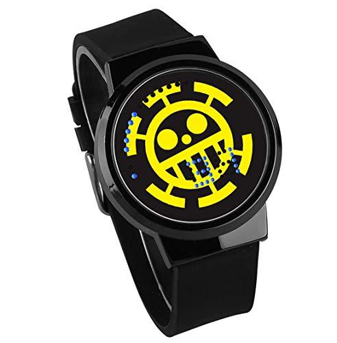 Relojes De Pulsera,Pantalla Táctil Led Anime Reloj Alrededor De One Piece Impermeable Reloj Electrónico...