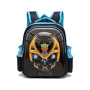 Mochila para Niños Mochila 3D Transformers Mochila Kindergarten 3-8 Años Mochila para Niños Y Niñas Tamaño S/M Blue-S