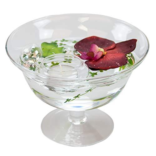 Bol roxy 76 hauteur : 13 cm-diamètre : 18 cm (orchidée avec décoration rouge)