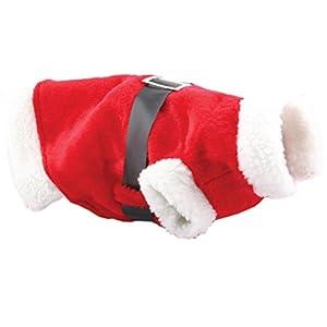 Christmas-Decorations Costume de Père Noël pour petits chiens