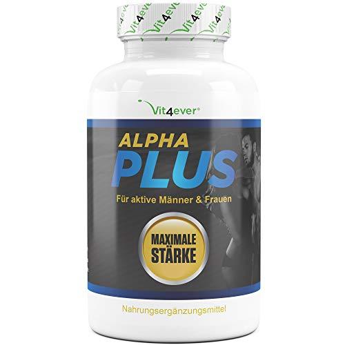 Vit4ever® Alpha Plus - 180 Kapseln - Hochdosiert mit L-Arginin + Maca + Tribulus - Für aktive Männer & Sportler - Natürliche Alternative zu Potenzmittel - Vegan (Blut-wurzel-extrakt)