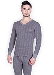 Lux Inferno Mens Cotton Thermal Top (INFERNO_BL_FS_VN_85_Black_Medium)
