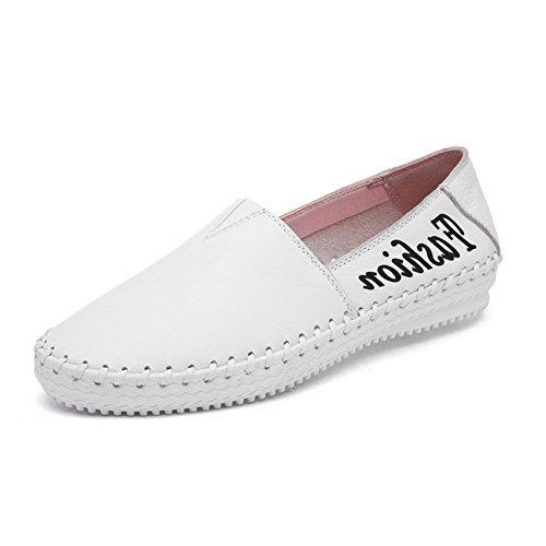 Brancos Voguezone009 Tração Baixo Cores Sapatos Misturadas Toe Rodada Em Senhoras Bombas Salto x4wfq