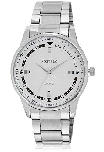 FOSTELO WHITE MEN'S WRIST WATCH FST-314