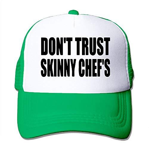 Men&Women Don't Trust Skinny Chef's Outdoor Hip Hop Mountaineering Cotton Mesh Sanpback Cap Hat Adjustable