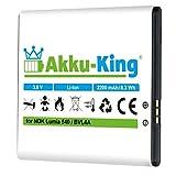 Akku-King Akku ersetzt Nokia BV-L4A - Li-Ion 2200mAh - für Microsoft Lumia 540, Lumia 830