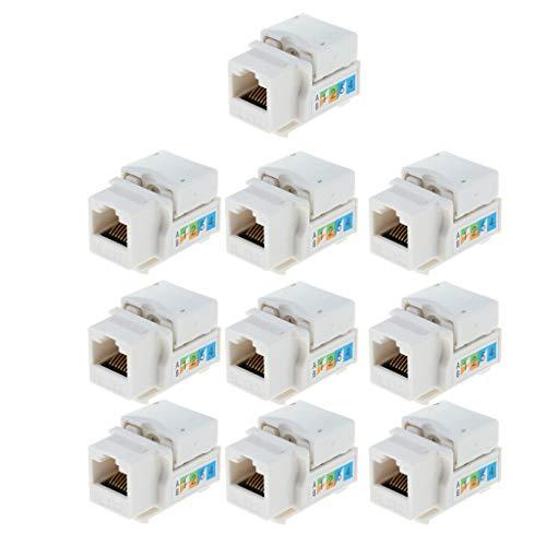 Gazechimp RJ45 Cat 6 Keystone Jack Ethernet Anlegeadapter Für Cat 5e Netzwerkmodule -