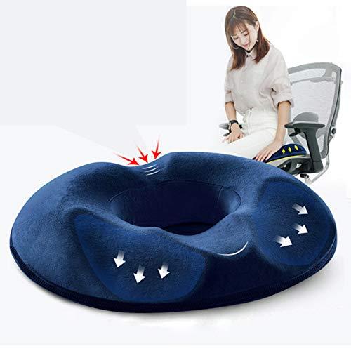 GuoHuii Schöne Gesäß Anti-Dekubitus-Kissen Office Student Mutterschaft Stuhl Kissen langsam Rebound Memory Baumwolle Kissen für Familie, Schreibtisch, Rollstuhl, Auto -