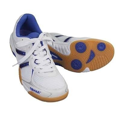Chaussure super flex tibhar contact taille 38 (blanc/bleu)