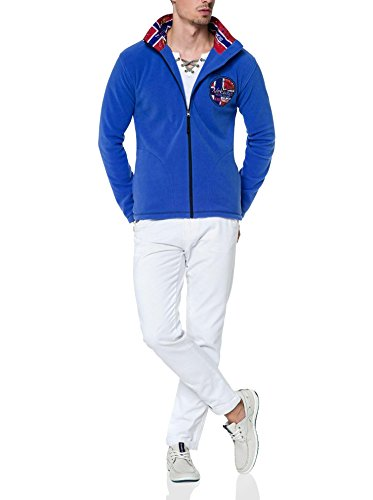 T167 - NEBULUS Lifestyle-Jacke GOTLAND, Fleecejacke, Hoody Herren, amparo-blau