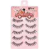 37YIMU® 5 pares ojos falso pestañas pestañas postizas extensión maquillaje ,rosa ligero