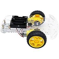 The perseids 2WD Smart Robot Car Chassis, Kit de chasis para Coche Inteligente de 2 Ruedas con Encoder de Velocidad para Arduino DIY