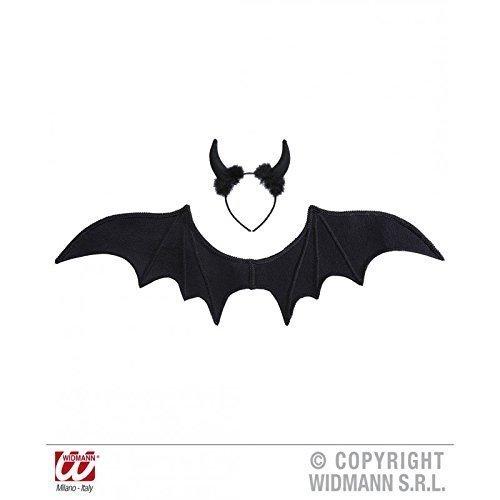 Flügeln und Teufelshörnern / Teufelsschwingen / Fasching / Halloween / Halloweenkostüm / Teufelskostüm (Flügel Für Halloween)