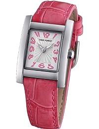 Reloj TIME FORCE de niña o señora. Acero Correa de piel. Rosa TF-3190B11
