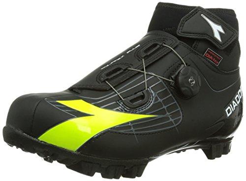 Diadora Polarex Plus Scarpe Da Ciclismo Per Adulti Unisex - Mountain Bike Nero (nero / Giallo Fluo 4000)