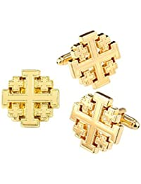 The Vatican Library Collection Gold-Tone Jerusalem Cross Cufflinks And Pin