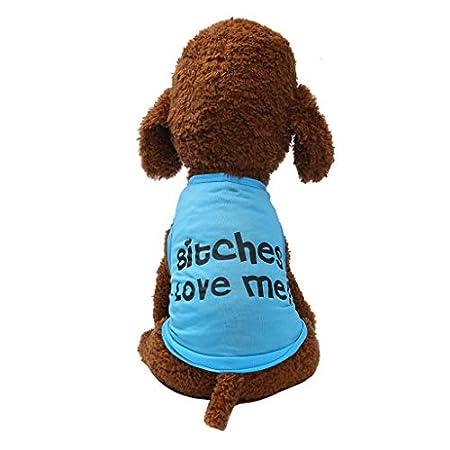 Kaiki Bitches Love Me Dog Hoodies Pullover Shirt Pet Bitches Love Me Hunde-T-Shirt Hund Pullover Warm Hund Kleidung…