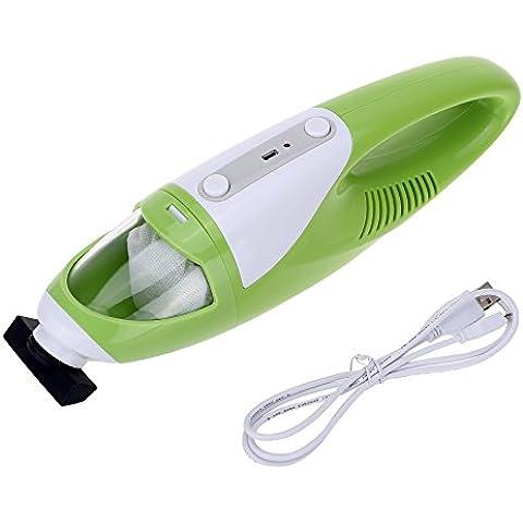 Anself Mini Aspirador de mano eléctrico recargable colector de polvo para hogar coche