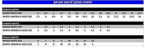 Bauer Schlittschuhe Erwachsene Supreme 140 Senior, Schwarz, 08.0/43.0, 1043528 -