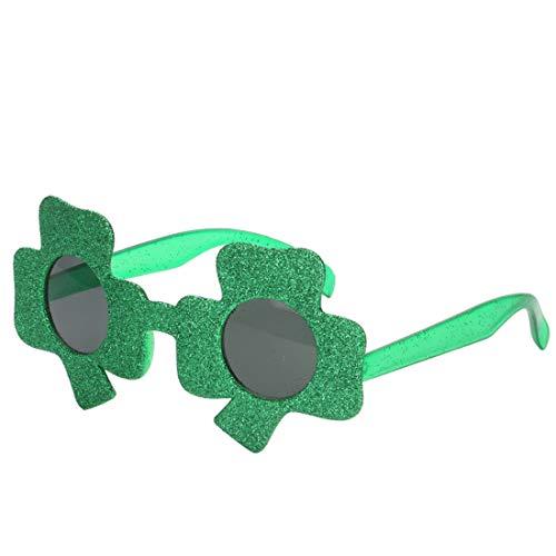Fanci-Frame Adult Kids perfekte Party gefallen Brille Party Zubehör Cute Clover Party Sonnenbrille Brille (Farbe : Grün)
