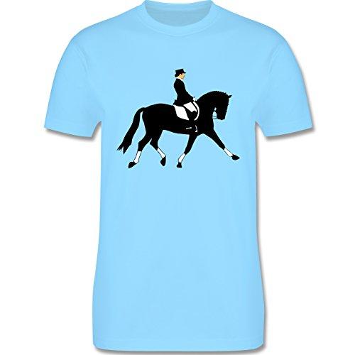 Reitsport - Dressurreiten - Herren Premium T-Shirt Hellblau