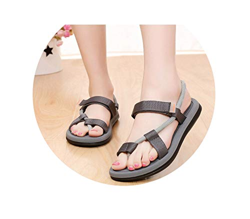 New Summer Beach Shoes Men Sandals Roma Leisure Breathable Clip Toe Dual Purpose Sandal Male Soft Shoes,Gray,8.5 Stiletto Heel Ankle Tie