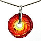 Kette in Rot-Tönen mit Anhänger aus Murano-Glas | Glas-Wechsel-Schmuck | Unikat handmade | Geschenk zum Jahrestag Hochzeit Geburtstag Weihnachten Mama | Personalisiertes Geschenk