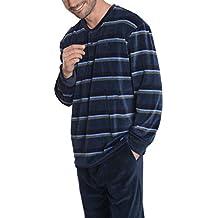 El Búho Nocturno - Ensemble de Pyjama Hommes Spécial Hiver à Manches Longes  à Rayures  fde9a4d5072