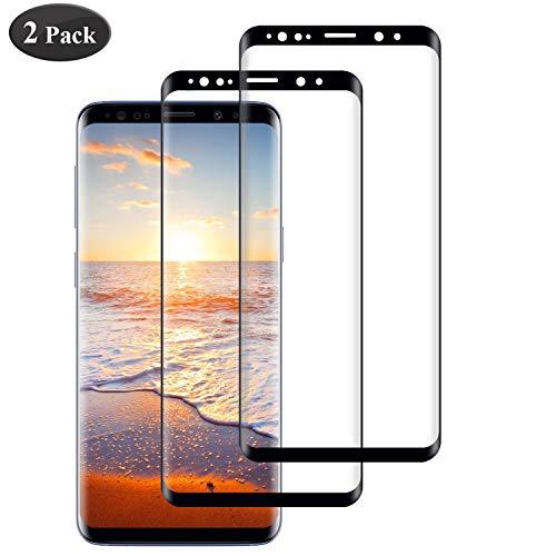 Seomusen Panzerglas Schutzfolie kompatibel mit Samsung Galaxy S9 Plus/S9+ [2 Stück], [9H Härte][ Anti-Kratzen] [Anti-Fingerabdruck] [Anti-Öl][HD Ultra Klar], Panzerglasfolie für Galaxy S9 Plus
