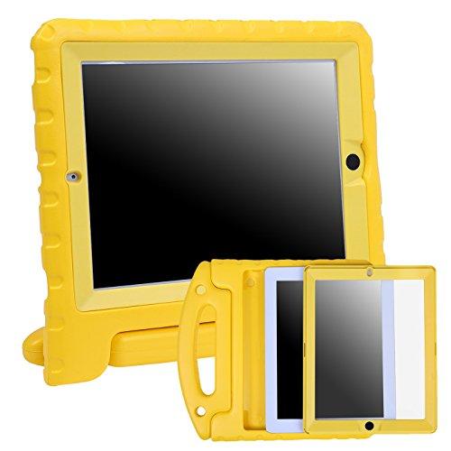 HDE Schutzhülle für iPad 2 / 3 / 4 Tablet, stoßfest, mit integrierter Bildschirmschutzfolie, für Kinder geeignet gelb gelb