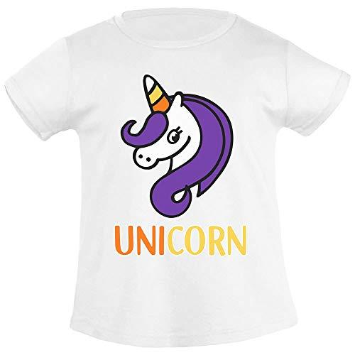 Maglia/Costume Candy Unicorno T Shirt Maglietta Bambina