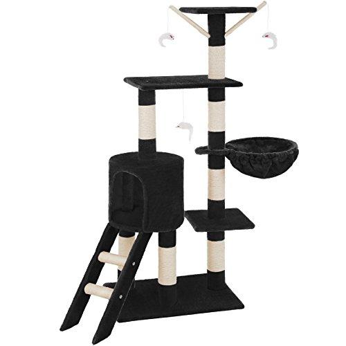 TecTake Tiragraffi per gatti gatto gioco palestra sisal nuovo altezza media - disponibile in diversi colori - (Nero | no. 401435)