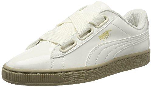 Puma Damen Basket Heart Patent Sneaker Weiß (Marshmallow-Marshmallow)