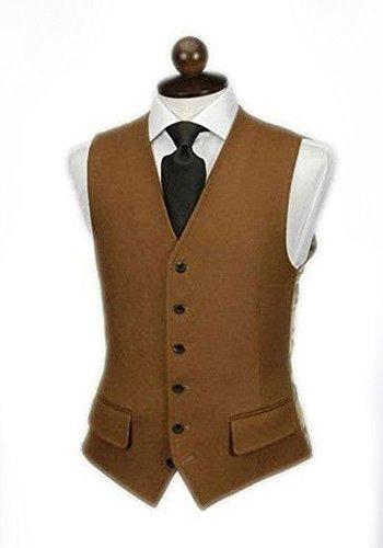 MA Gilet costumes Gilet en cachemire cintré gilet costume pour hommes Dark Brown
